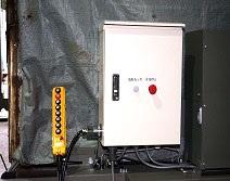 制御盤と操作スイッチ